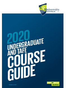 CQUniversity Undergraduate and TAFE Guide 2020 cover