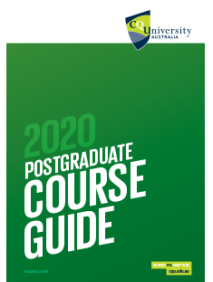 CQUniversity Postgraduate Course Guide 2020 cover