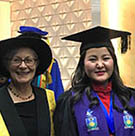 Baljinnyam Davaajav (second from right) pictured with the Vice-Chancellor, Deputy Chancellor and Associate Vice-Chancellor on graduation day in Sydney.