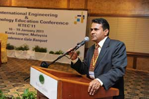Speaker at International Engineering and Technology Education Conference