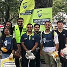 CQUni Melbourne Campus staff and students participating in the 2019 Business Clean Up day