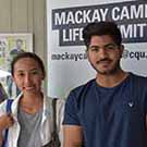 CQUni Mackay international students Zhenxiong Zhu (from China), Lupytha Hermin (Indonesia), Udaibir Bharti (India) and Quoc Thong Tran (Vietnam) met up for a chat at Orientation Week.