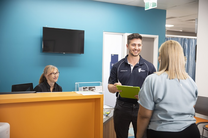 Mackay Health Clinic Reception with patients waiting inside