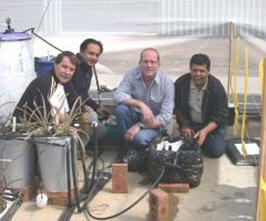 Make That Water Work research and innovation team photo on site with irrigation system