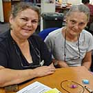 CQUni Visual Arts jewellery-making teacher Lisa Gaze (left) and studet Kris Heath (right) are looking forward to the 55th Australian National Gemboree at the Rockhampton Showgrounds from 19-22 April.