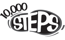 10,000 steps footprint logo