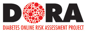 Black and red diabetes online risk assessment project