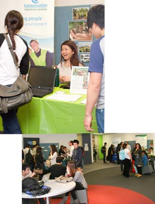 Students converge on CQUni Melbourne for Volunteering and