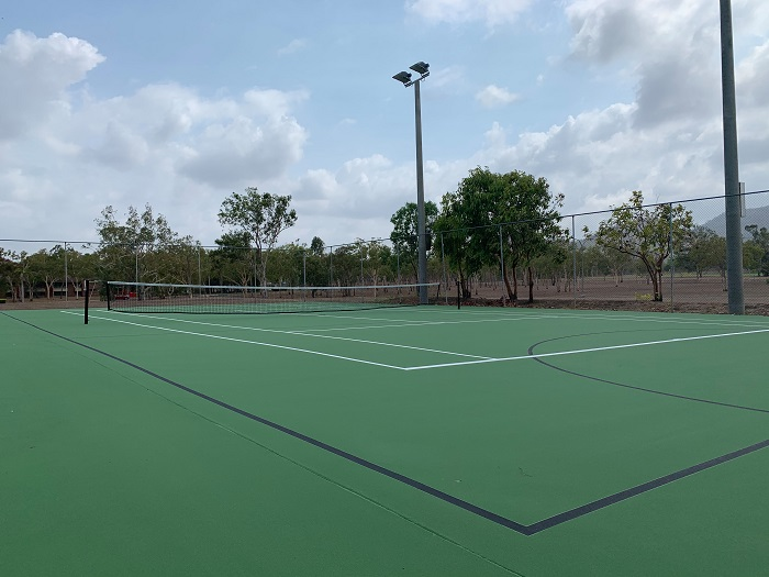 tennis court at the CQUni Community Sports Centre in Rockhampton