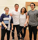 Left to Right: Chanelle Redgwell (student), Paul Reichstein, Dr Linda Lorenza, Jackson Wecker (student).