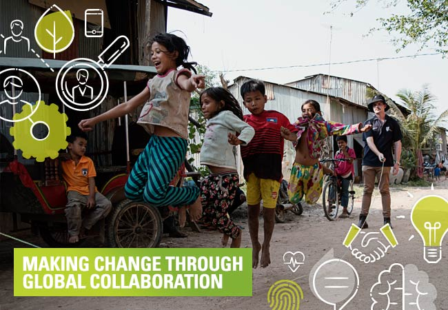 Making change through global collaboration