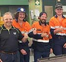 CQUniversity Emerald Glencore 2019 Diesel Fitting, Auto Electrical and Metal Fabrication cohort has constructed a barbecue that will be used for community functions in the region.