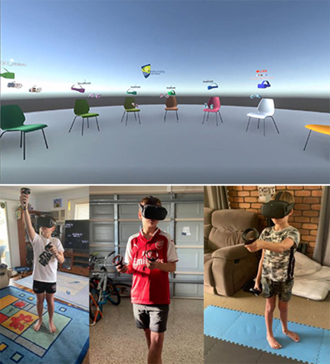 Primary school students learning in a STEM Virtual Reality Classroom