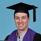 Luke Attkins pictured at his recent graduation ceremony.