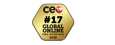 CEO Magazine Tier One Global MBA Ranking 2018 Golden badge