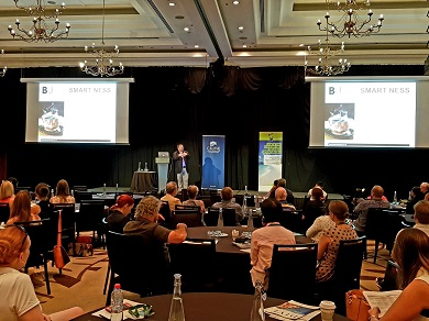 Professor Dimitrios Buhalis presenting at the 2019 CAUTHE conference in Cairns.