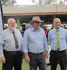 CQUniversity Associate Vice-Chancellor Wide Bay Burnett Region Luke Sinclair (far right) with Federal Member for Hinkler Keith Pittat (centre) and Bundaberg Deputy Mayor Cr Bill Trevor at the $5 million funding commitment announcement to support the establishment of an AgTech precinct in Bundaberg.