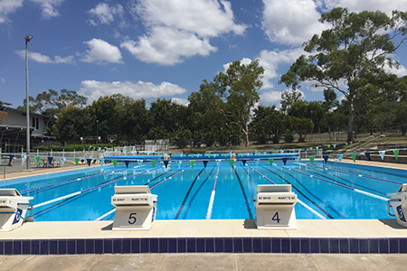 Swimming pool at the CQUni Community Sports Centre in Rockhampton