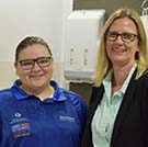 CQUniversity Alumnus Julie Kahl (right) now oversees the Central Queensland Hospital Health Service Graduate Nurse Program; the same program that kick-started her career 25 years ago, and the career of 60 CQUniversity Nursing graduates in 2019, including Maddison Hoad.