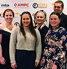 Six Bachelor of Agriculture students recently competed in the 2019 Intercollegiate Meat Judging competition in Wagga Wagga. Harriet Dunne, Travis Parks, Liz Lazell, Jaime Manning (CQU Ag lecturer), Camilla Stokes, Gabby Parker, Matt Richardson and Saba Sinai-Mameghany (CQU Ag lecturer).